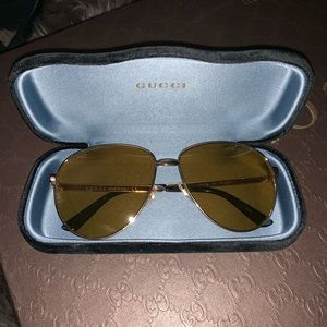 Gucci Oversizes Yellow lenses Sunglasses